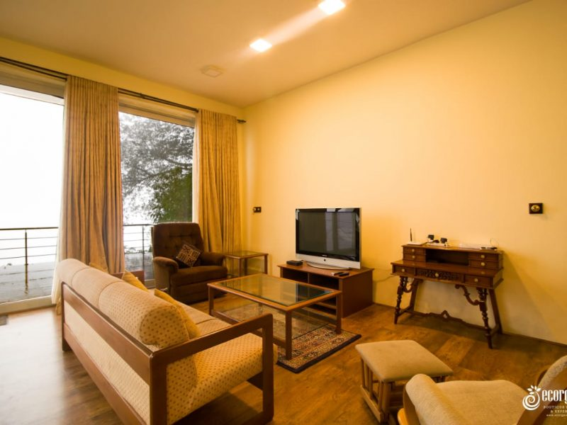 fully furnished living hall of the bungalow by the lake kodaikanal