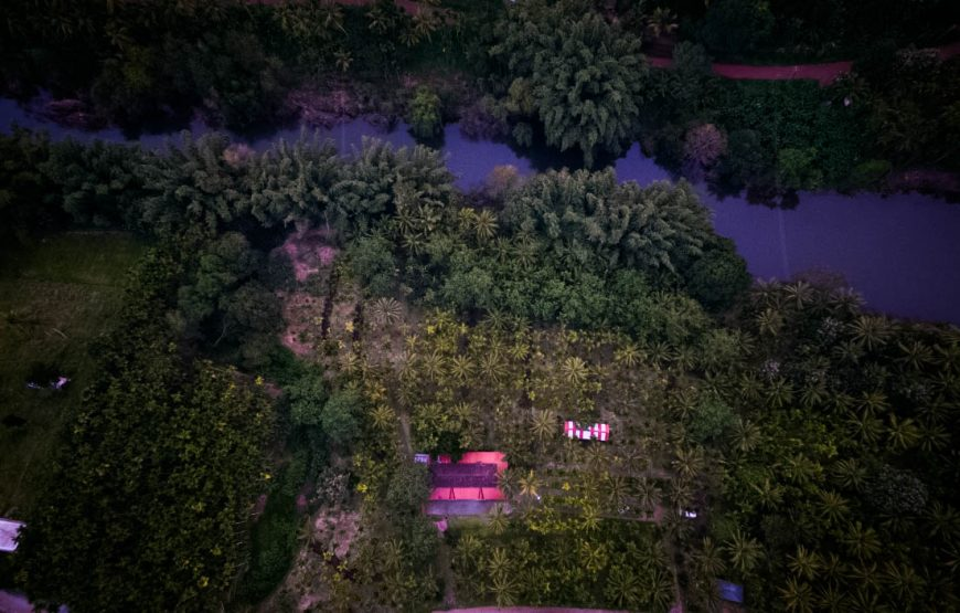 Drone view of attapadi homestay