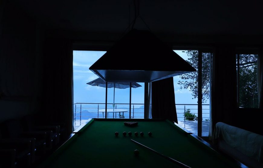billiards pool table in the kodaikanal bungalow