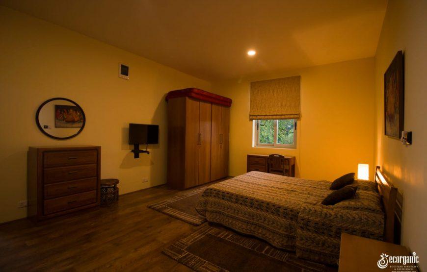 luxurious bedroom in the Ecorganic Stays Kodaikanal