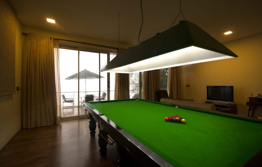 billiards in the homestay in kodaikanal