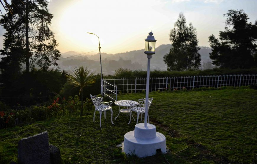 sun rise view from the luxury resorts in ooty