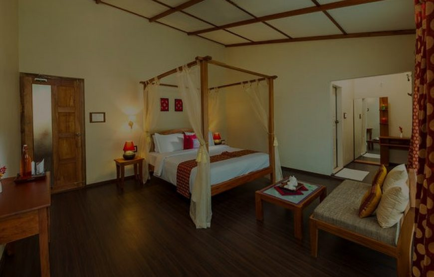 Luxurious bed room of the Munnar Farmhouse for Stay