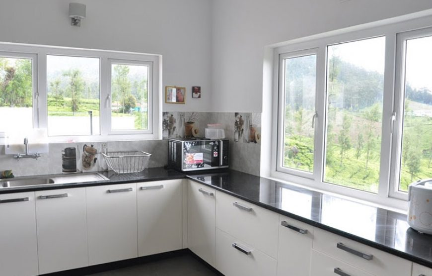 A kitchen with natural view at the bue ooty