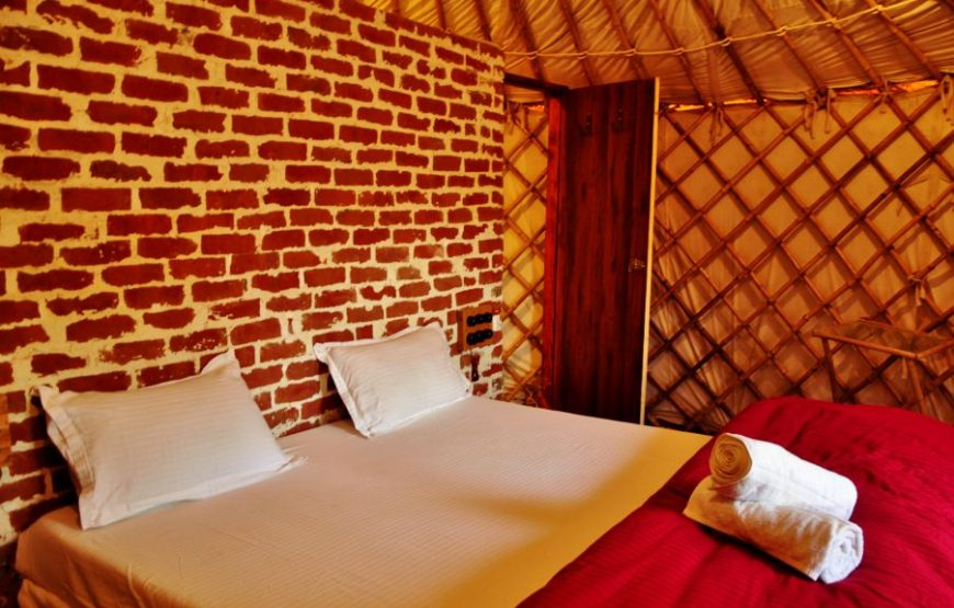 Bedroom in aravali hills adventure camp