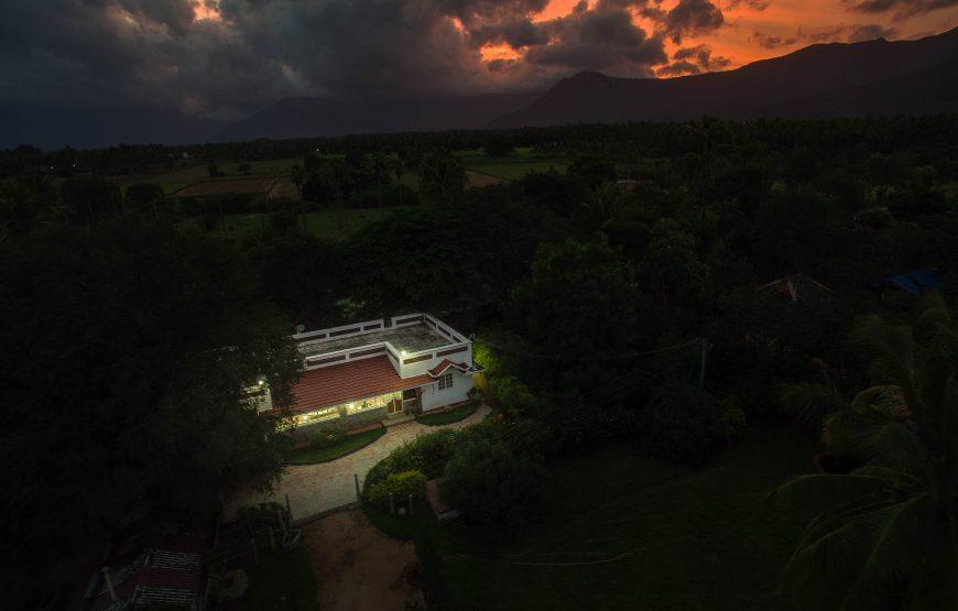 Aerial shot of deco villa coimbatore