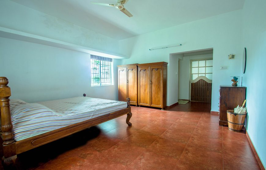 single bed of the farmhouse stay in coimbatore