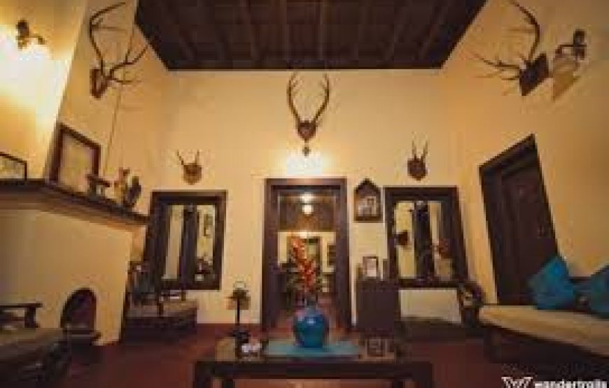 main hall of the bungalow coorg