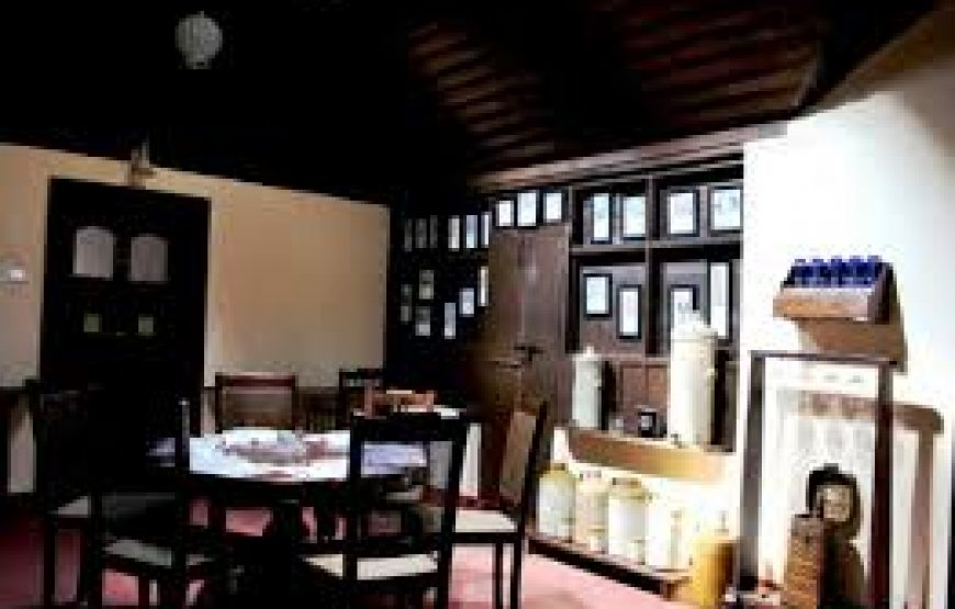 Dinning table in coorg bungalow stay
