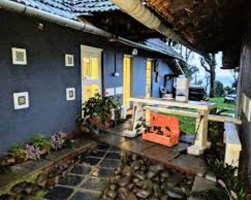 front view of coorg bungalow stay