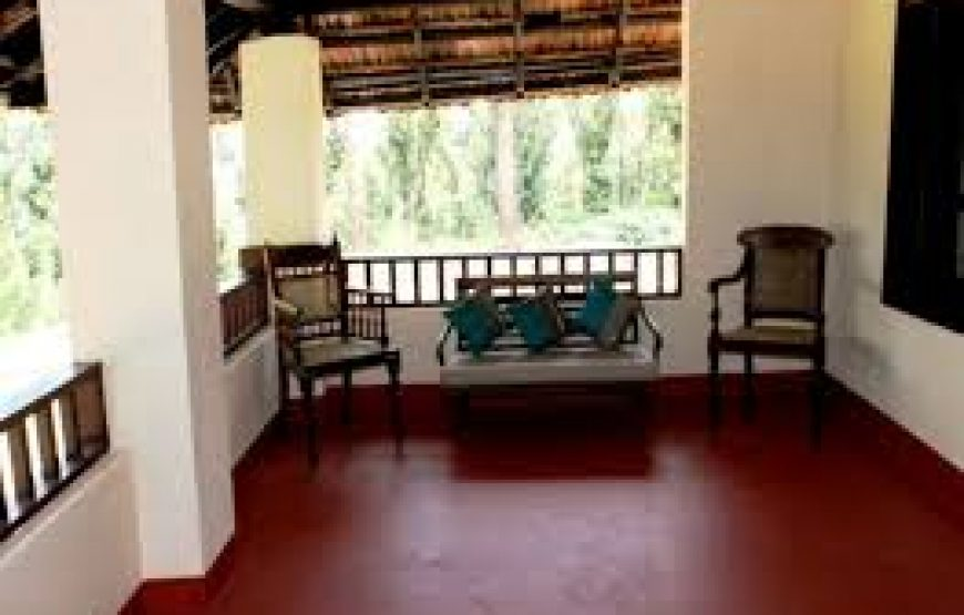 outside corridor of coorg bungalow stay