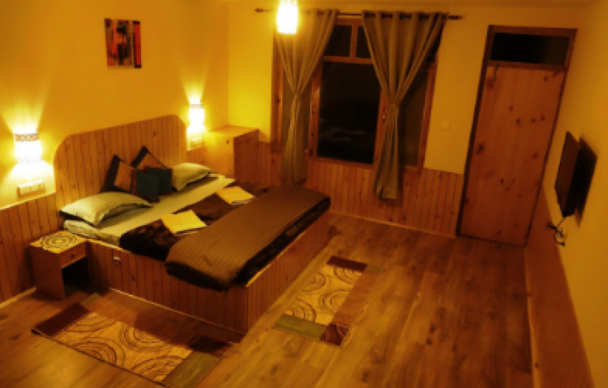 top angle view of bedroom in Kotagiri resorts homestay