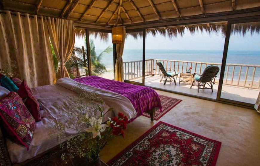 Fantastic bed room from beach huts in goa