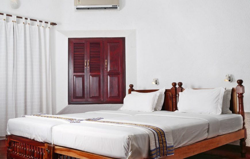 Air conditioned bedroom of backwater stay in alleppey