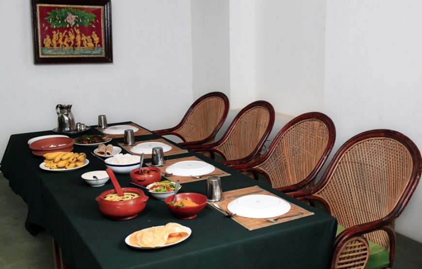 Dinning table of Alleppey Homestay Backwaters