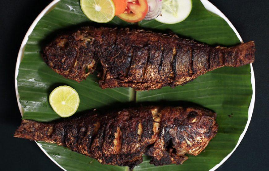 fried and crispy fish served in Alleppey Homestay Backwaters