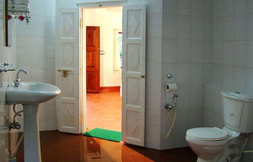 Modern bathroom interior in Alleppey Homestay Backwaters