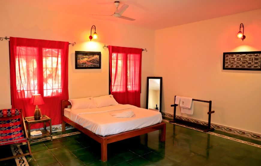 Luxurious bedroom with all amenities in courtyard Bangalore