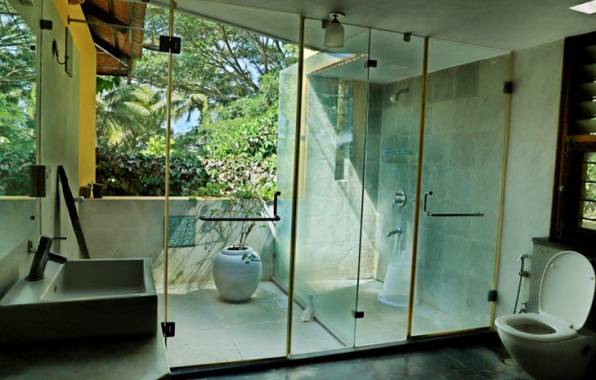 Stylish bathroom accessories & designs in courtyard Bangalore