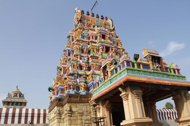 front view of temple near by anaikatti stay
