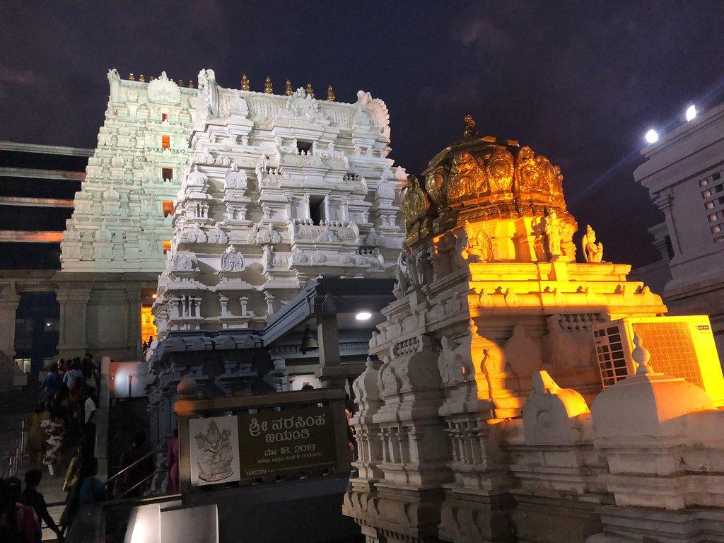 iskon temple near the farm stay in Bangalore